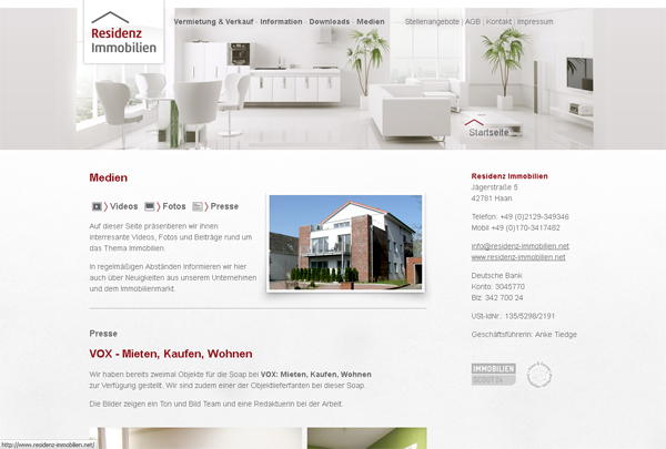 residenz immobilien - Corporate Design // Zoom #4